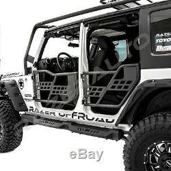 07-18 Jeep Wrangler JK Rock Crawler Off Road Front+Rear Tubular 4 Door Set