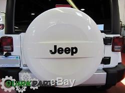 07-19 Jeep Wrangler Jk P255/70r18 White Hard Surface Spare Tire Cover Oem Mopar