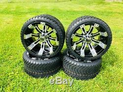 12 Inch Golf Cart Tempest Wheels and Tires 215/35-12 DOT EZGO Club Car YAMAHA