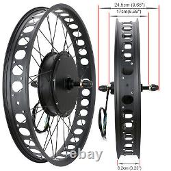 1500W 48V Electric Bike Fat Tire 26 Rear Wheel Bicycle Motor Conversion Kit Hub