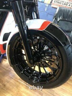 18 x 5.5 Talon Wheel & 180/55-18 Fat Front Tire Black 00-20 Harley Touring