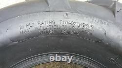 2 18x9.50-8 2P OTR FieldMaster Tires Lug AG PAIR 18x9.5-8 FREE SHIP