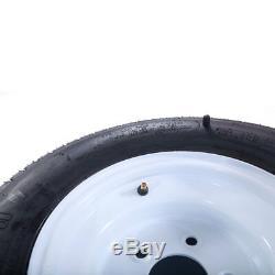 2 20.5x8.0-10 LRC Bias Trailer Tires on 5 Lug White Wheels 205/65-10