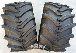 2 24x12.00-12 4P OTR Lawn Trac Tires Lug R-1 R1 PAIR AG 24x12-12