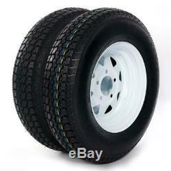 2 Complete Tires & Rims 175/80D13 5 on 4.5 LRC ET Bias Trailer Tires C