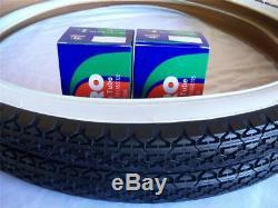 2 DURO White Wall Tires Tubes + RIM STRIPS 26 x 2.125 Cruiser Tire Bicycle