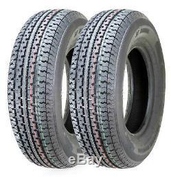 2 Freedom Hauler Premium Trailer Tire ST175/80R13 Radial 8PR Load Range D -11012