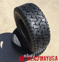 2 NEW 20X8.00-8 4 PLY Rated Turf Tire Mower Garden Tractor TUBELESS 20 800 8