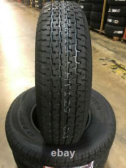 2 NEW ST205/75R14 Freedom Hauler Trailer Tires 8 PLY 205 75 14 ST 2057514 R14 ST