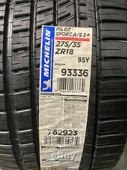 2 New 275 35 18 Michelin Pilot Sport A/S-3+ Tires