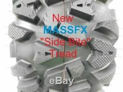 2 New Front 25x8-12 KT MASSFX TIRE SET ATV TIRES 6 PLY 25 25x8x12