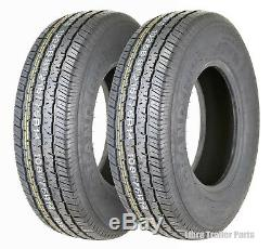 2 New Premium Grand Ride Trailer Tires ST215 75R14 / 8PR Load Range D 11060