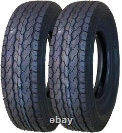 2 New Trailer Tires ST205/75D14 2057514 205 75 14 F78-14 VR383 Bias 6PR