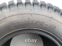 2 (PAIR) 22x11.00-10 D930 ATV Stryker Tires DS7360 22x11-10 22/11-10 Free Ship
