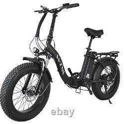 20Fat Tire 750W 48V 13AH Folding Electric Bike Beach Snow E Bicycle Black SF-20
