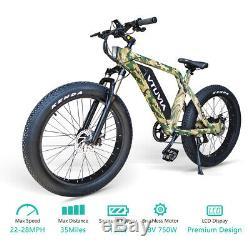 26 Fat Tire 48V 750W 13AH Electric Bike Beach Mountain City E Bicycle SN100 US