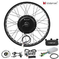 261000W Fat Tire Electric Bike Rear Wheel Bicycle Conversion Kit Hub Motor 48V