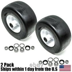 2PK 13x6.5x6 Puncture Proof No Flat Tires Fits Exmark 103-0065 Front Solid