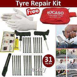 31Pcs Tire Puncture Repair Kit Tool Emergency Car, Van, Motorcycle for Tubeless