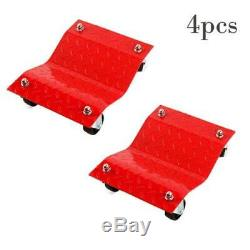 (4) 16x 12x 4.5 HD Set Dolly Tire Wheel Dollies Dolly Vehicle Car Auto Red