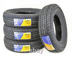 4 FREE COUNTRY Premium Trailer Tire ST205 75R15 /8PR Load Range D withScuff Guard