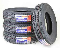 (4) Freedom Hauler Trailer Tire ST205/75R15 8PR Load Range D Steel Belted Radial
