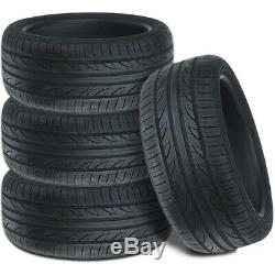 4 Lionhart LH-503 225/45ZR17 94W XL 40K Mile All Season High Performance Tires