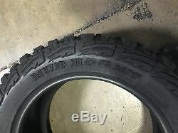 4 NEW 35x12.50R17 Kanati Mud Hog M/T Mud Tires MT 35 12.50 17 R17 10 ply