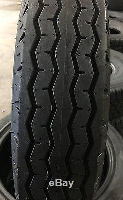 4 NEW 8-14.5 Tow-Master LPT Bias Trailer Tire 8x14.5 8 14.5 14 ply Load Range G