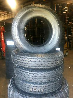 4 NEW 8-14.5 ZEEMAX Heavy Duty Trailer Tire LRG 8x14.5 8 14.5 LR 14 ply