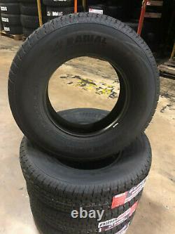 4 NEW ST 225/75R15 White Letter Freedom Hauler Trailer Tires 10 PLY 225 75 15 ST