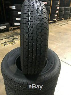4 NEW ST205/75R15 Freedom Hauler Trailer Tires 8 PLY 205 75 15 ST 2057515 R15 ST