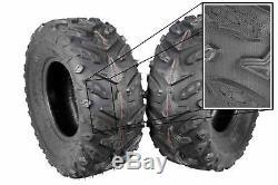 (4) New 24X8-12 24x10-11 MASSFX Grinder ATV TIRES SET HONDA RANCHER 4X4