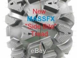 4 New 25x8-12 25x10-12 KT MASSFX TIRE SET ATV TIRES 6 PLY 25 25x8x12 25x10x12