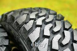 4 New Atlas Tire Priva M/T LT 265/70R17 Load E 10 Ply (OWL) MT Mud Tires