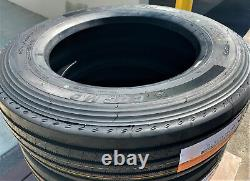 4 New Cosmo CT518 Plus 255/70R22.5 Load H 16 Ply All Position Commercial Tires