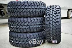 4 New Crossleader Wildtiger T01 35X12.50R20 Load E 10 Ply M/T Mud Tires