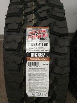 4 New Eldorado Mud Claw Extreme M/t Lt285x75r16 Tires 75r 16 285 75 16
