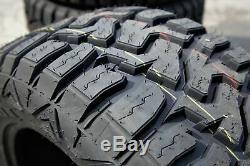 4 New Haida HD878 R/T LT 33X12.50R20 Load E 10 Ply M/T A/T All Terrain Mud Tires