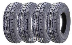 4 New Premium WINDA Trailer Tires ST 205 75R15 / 8PR Load Range D 11104
