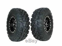 4 New SPLIT 6 14 Beadlock rims on MASSFX 30x10-14 tires Polaris Rzr XP1000 900