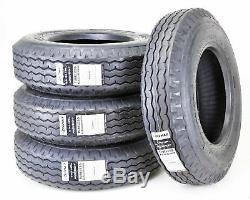 4 New Zeemax Heavy Duty Highway Trailer Tires 8-14.5 14PR LR G