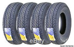 4 Premium WINDA Trailer Radial Tires ST225 75R15 10PR LR E withSide Scuff Guard