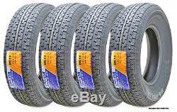 4 Premium WINDA Trailer Tires ST205 75R14 /8PR LRD Steel Belted withScuff Guard