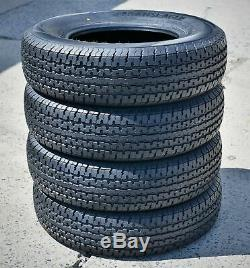 4 Transeagle ST Radial II Steel Belted ST 205/75R15 Load E 10 Ply Trailer Tires