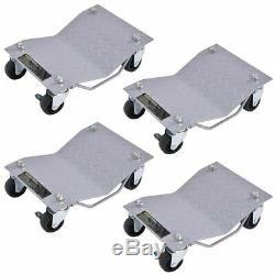 4 X 3 Set Tire Wheel Dollies Dolly Vehicle Car Auto Repair Moving Diamond Gray