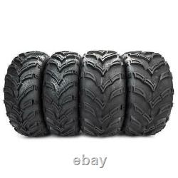 4 of ATV/UTV Tires 25x8-12 Front & 25x10-12 Rear Rubber left and right