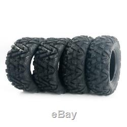 4 of F&R L&R factory direct 25x8-12 25x10-12 TIRE SET ATV TIRES 6 PLY 25