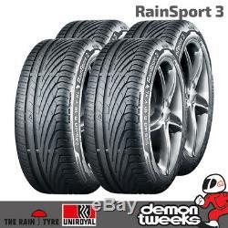 4 x Uniroyal RainSport 3 Performance Road Tyres 225 40 18 92Y Extra Load XL