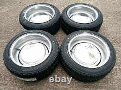 7x 13 JBW Smoothie Steel Wheels Classic Ford Set of 4 Silver + 175/50x13 Tyres
